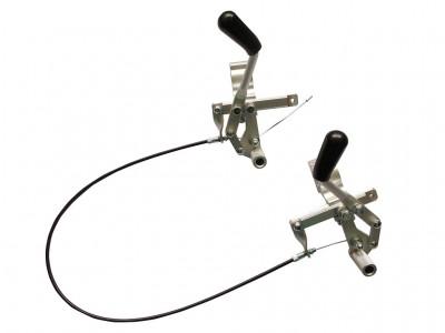 Einhand-Feststellbremse für Rollstühle